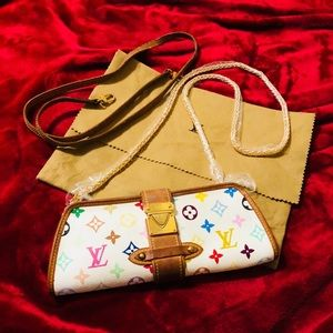 Authentic Louis Vuitton Shirley Clutch/Sling Multi